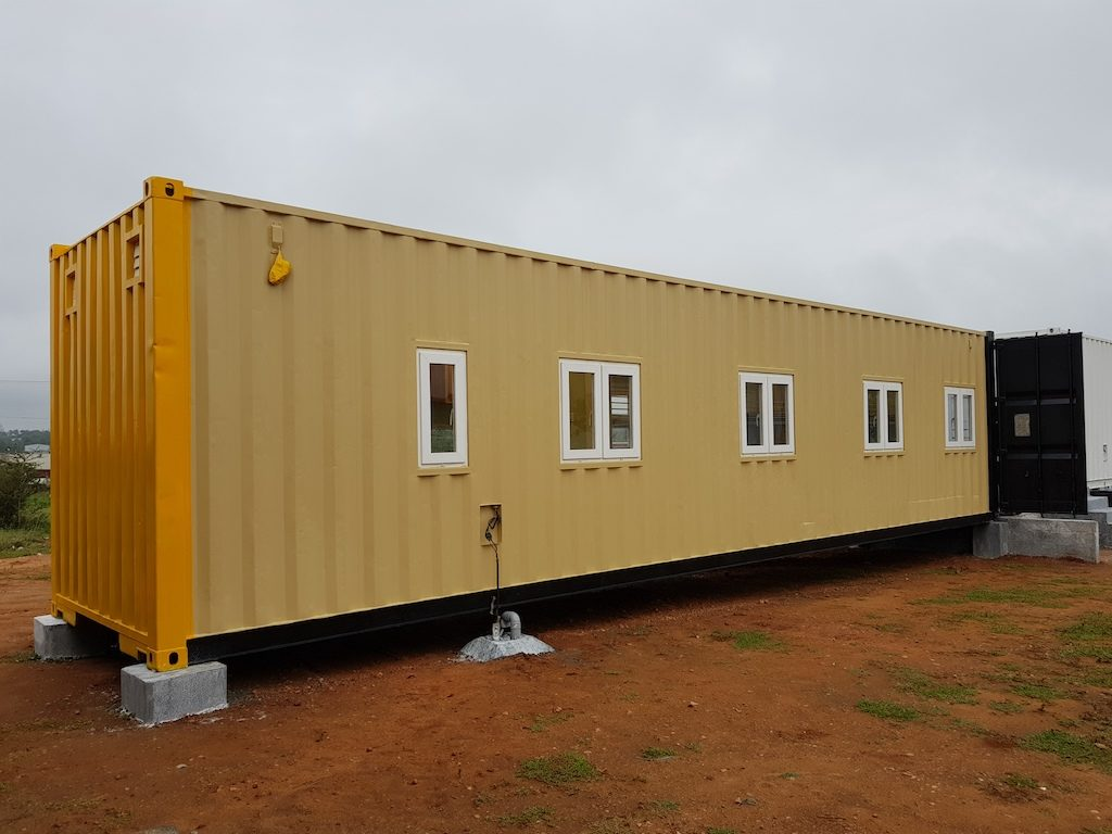 Accomodation in container 12