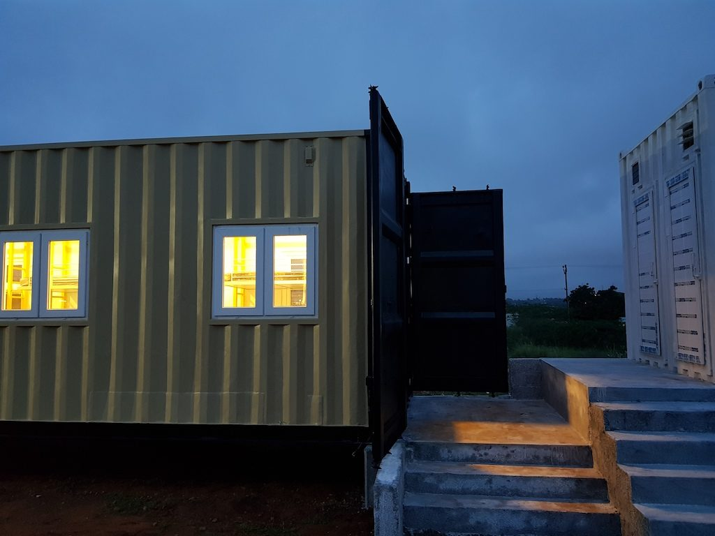 Accomodation in container 17