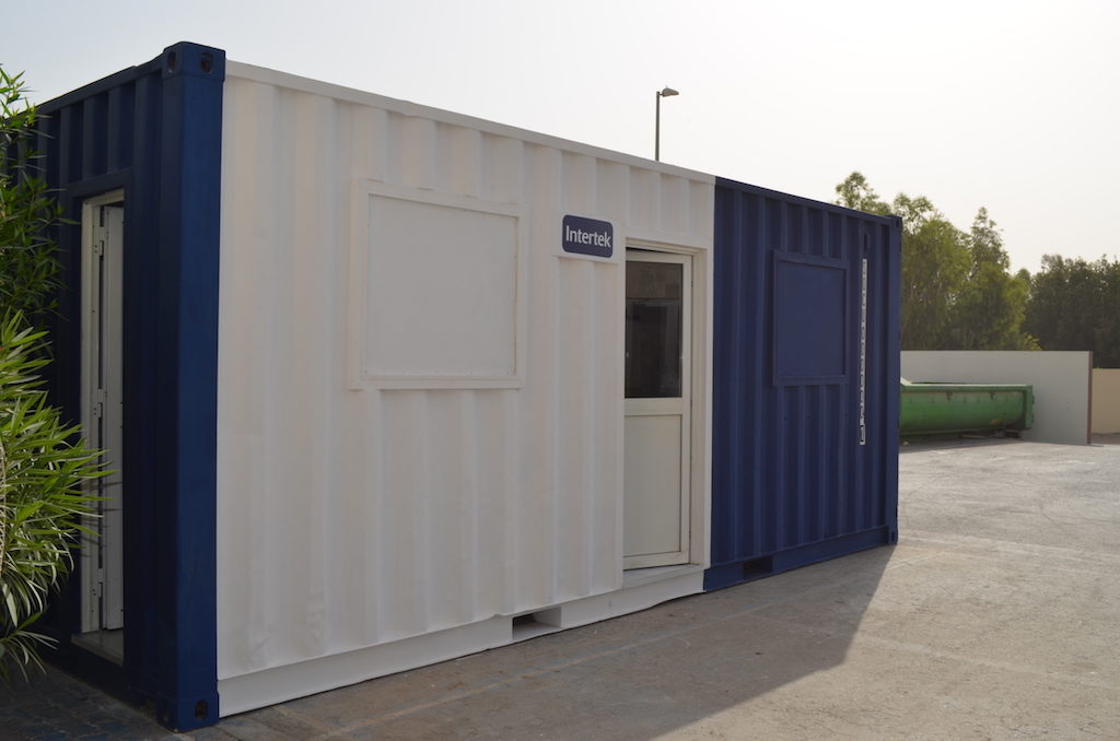 Lab furnished in the container
