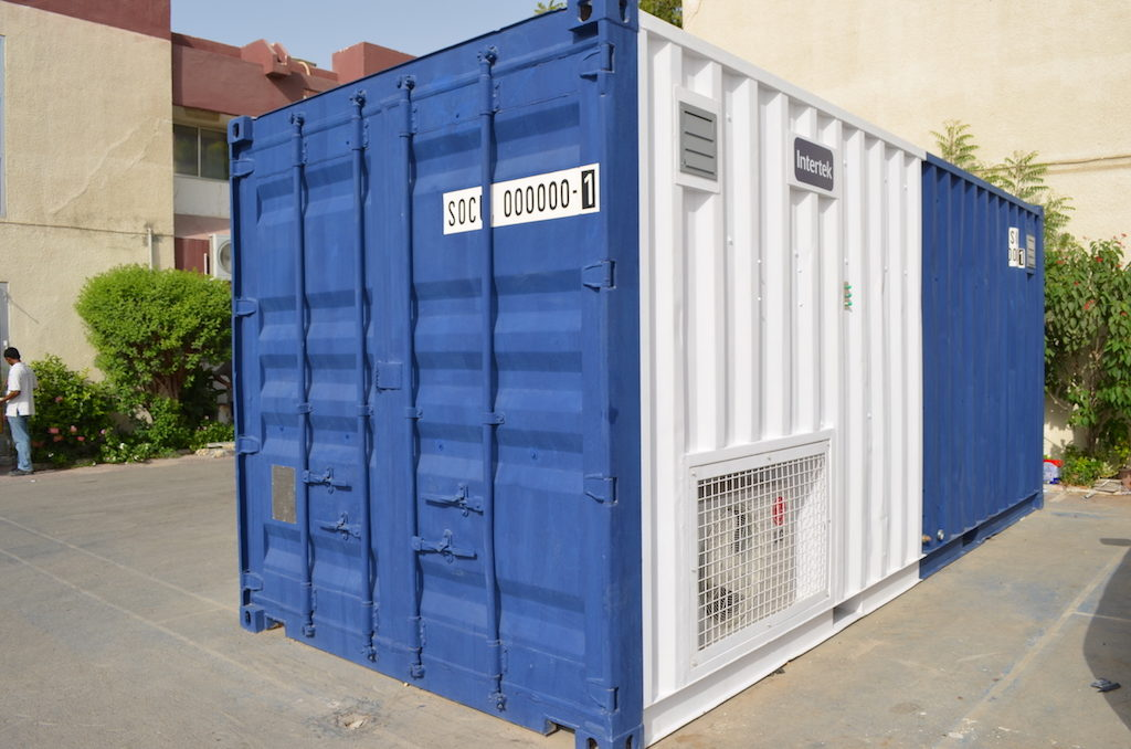 Lab furnished in the container 2